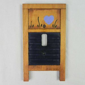 COPY - Vintage Rustic Washboard Light Switch Cover